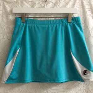 Fila teal/white tennis skirt sz M w/shorts